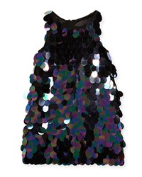 Milly Minis Paillette Sequin Angular Shift Dress Size 8 16 Multi