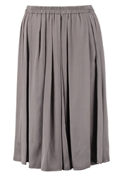 Marc O'polo Pleated Skirt Marl Grey