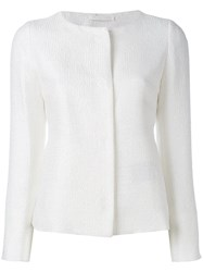 Herno Knitted Smart Jacket White