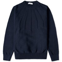 Inis Meain Inis Meain Sunray Crew Knit Blue