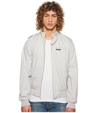 Members Only Iconic Racer Jacket Light Grey Coat Gray