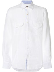 Canali Long Sleeve Shirt White