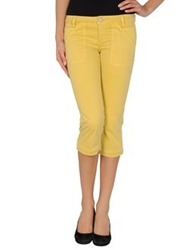 Guess Jeans 3 4 Length Shorts Yellow