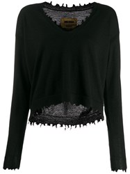 Uma Wang Distressed Cashmere Jumper Black