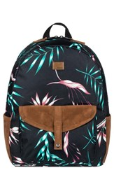 Roxy Caribbean Backpack Black Anthracite Stormy Flowers