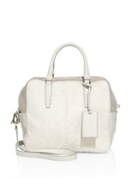 Agnona Cara Soft Small Leather Satchel White