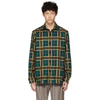Schnayderman's Yellow And Green Large Check Overshirt
