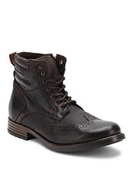 Steve Madden Side Zippered Leather Boots Black