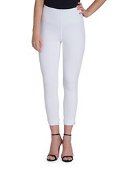 Lysse Plus Cropped Stretch Leggings White