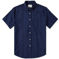 Portuguese Flannel Short Sleeve Colonial Shirt Blue