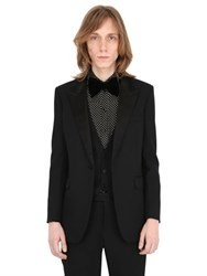 Saint Laurent Wool Crepe Tuxedo Jacket
