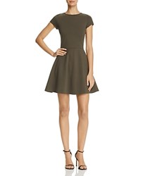 Aqua Short Sleeve Fit And Flare Dress 100 Exclusive Olive