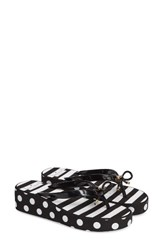 Kate Spade Women's New York 'Rhett' Wedge Black White Stripes