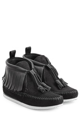 Rag And Bone Rag And Bone Suede Moccasin Sneakers With Leather Black