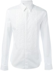 Givenchy Lace Placket Shirt White