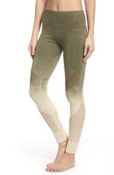 Climawear Formation High Waist Leggings Tapioca W Deep Lichen Green