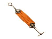 Leather Rock B685 Orange Bracelet