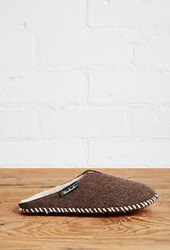 Forever 21 Woolrich Felt Slippers Brown