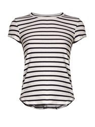 Frame Round Neck Striped Jersey T Shirt Blue Stripe