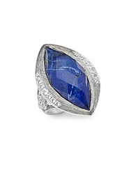 Jude Frances Encore Silver Crystal And Sterling Silver Large Marquise Stone Moroccan Ring No Color