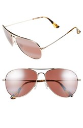 Women's Maui Jim 'Mavericks' 61Mm Polarizedplus2 Aviator Sunglasses