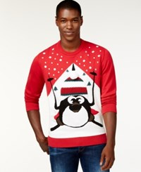 American Rag Penguin Sweater Only At Macy's Cherry Lip