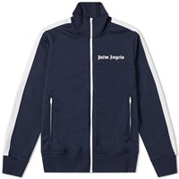 Palm Angels Taped Track Jacket Blue