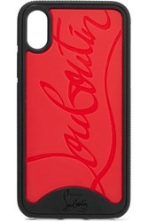 Christian Louboutin Loubiphone Embossed Pvc Iphone X And Xs Case Red