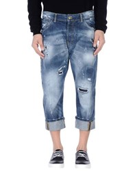 Yes London Denim Denim Capris Men