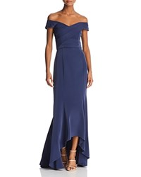 Laundry By Shelli Segal Off The Shoulder Gown Midnight