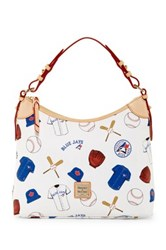 Dooney And Bourke Bluejays Hobo White