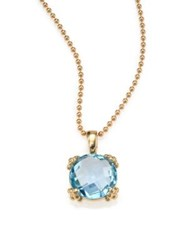 Anzie Dew Drop Sky Blue Topaz And 14K Yellow Gold Pendant Necklace Gold Blue Topaz