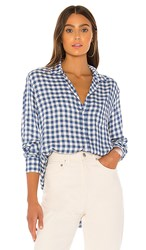 Frank And Eileen Button Down In Blue. Classic Blue Check