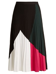 Proenza Schouler Pleated Crepe Jersey Skirt Black White