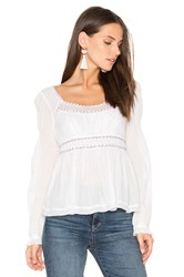 Free People Strangers In Love Top White