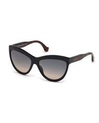 Balenciaga Gradient Cat Eye Sunglasses Black