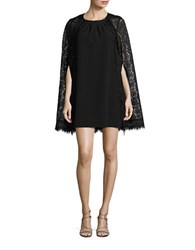 Jessica Simpson Lace Cape Sheath Dress Black