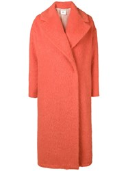 Semicouture Willey Oversized Coat Yellow And Orange