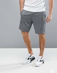 Lyle And Scott Fitness Charlton Sweat Short In Grey T28 Mid Grey Marl