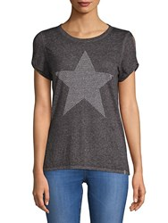 Marc New York Cut Out Short Sleeve Top Grey