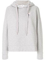 Closed Logo Patch Hooded Sweatshirt Cotton Polyester Grey