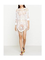 Wildfox Couture Wildfox Ornamental Cotton Crochet Tunic White