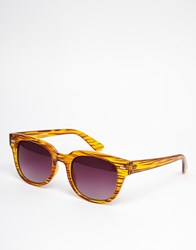 A. J. Morgan Aj Morgan Match Square Sunglasses In Brown Stripe Brown Black
