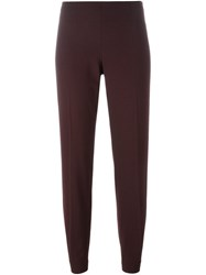 Brunello Cucinelli Cropped Trousers Pink And Purple