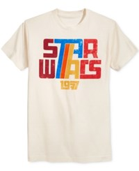 Fifth Sun Men's Star Wars Graphic Print T Shirt Cream