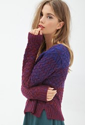 Forever 21 Dip Dyed Sweater Royal Wine