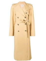 Khaite Long Trench Coat Neutrals