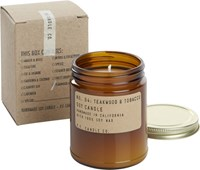 Cb2 Teakwood And Tobacco Soy Candle