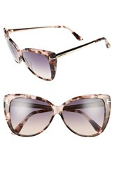 Tom Ford Women's Reveka 59Mm Gradient Cat Eye Sunglasess Pink Havana Rose Gold Smoke Pink Havana Rose Gold Smoke