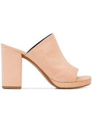 Robert Clergerie Abrice Mules Nude And Neutrals